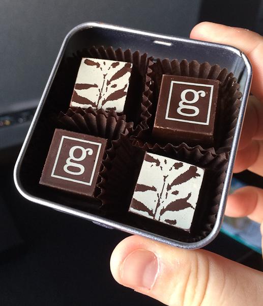 Chocolats Geneviève Grandbois offerts par le Germain-Dominion