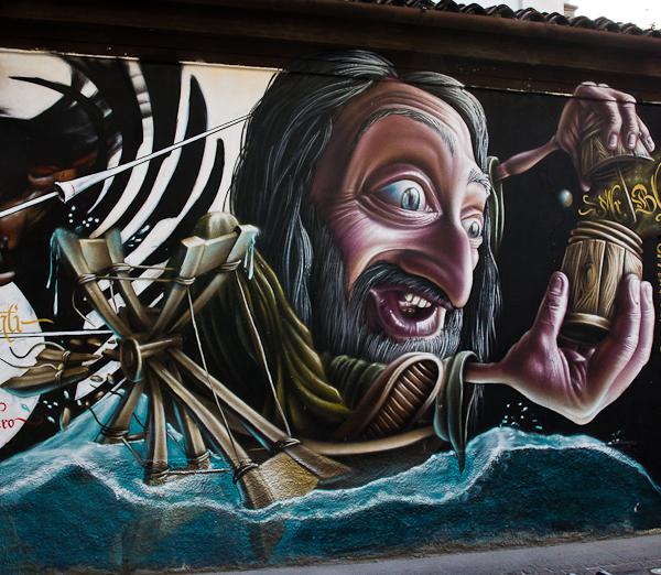 Fou - Art de rue - Milan, Italie
