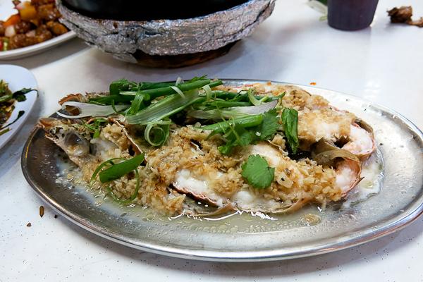 Fruits de mer à l'ail - Singapour