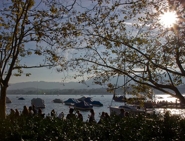 """La """"See"""" un dimanche après-midi ensolleillé - Zurich, Suisse"""