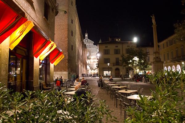 La vue à la sortie de l'hôtel Ibero - Cremona, Lombardie, Italie