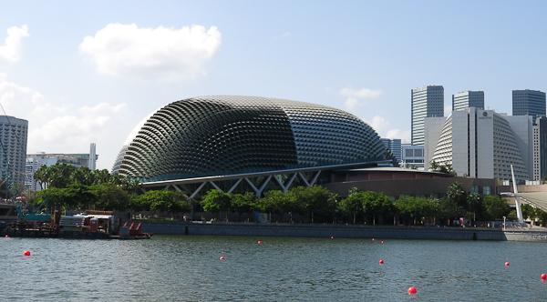 Le Durian vu de l'Esplanade - Singapour