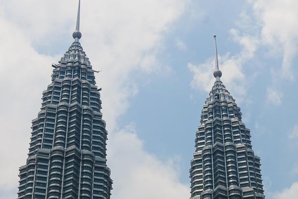 Les fameuses tours Petronas - Kuala Lumpur, Malaisie