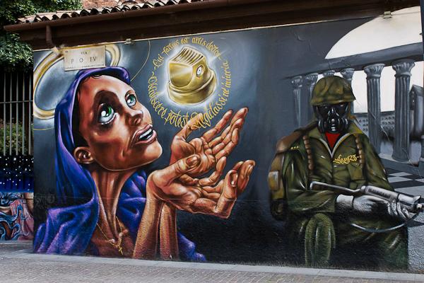 Lumière - Art de rue - Milan, Italie