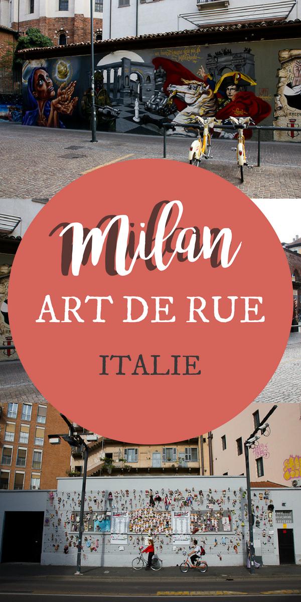Art de rue à Milan en Italie