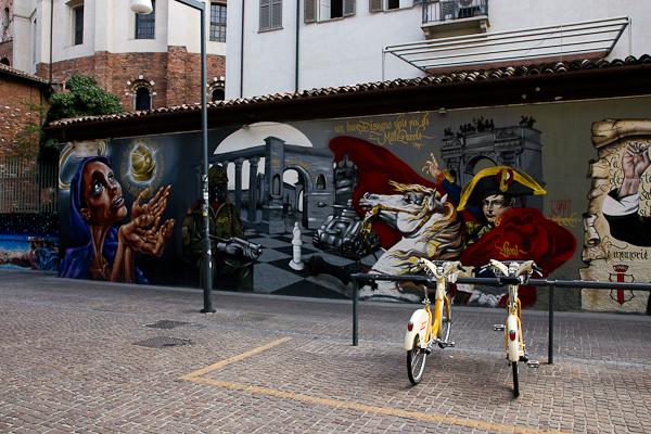 Murale et vélos - Art de rue - Milan, Italie