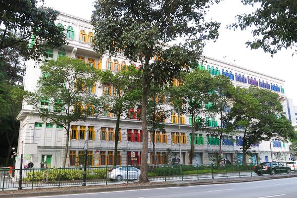 Old Hill Street Police Station, maintenant le siège du Ministère de l'information et des communications - Singapour