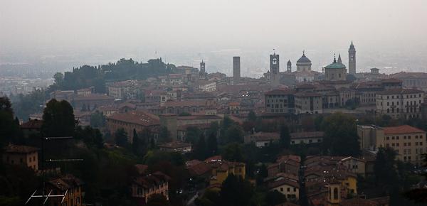 Panorama de Bergamo, Lombardie, Italie