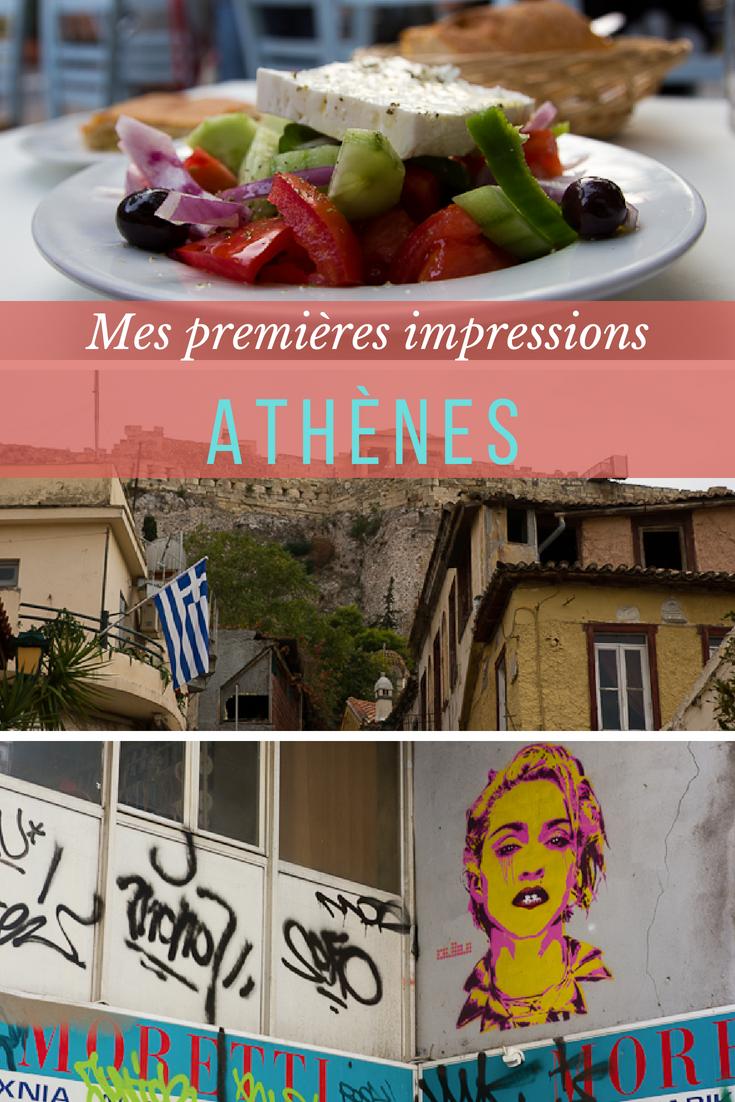Premières impressions - voyage à Athènes, Grèce
