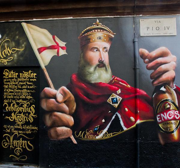 Roi - Art de rue - Milan, Italie