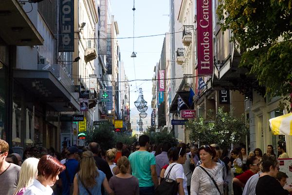 Rue Ermou - Athènes, Grèce