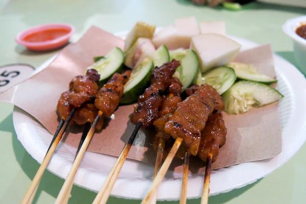 Satay - Brochettes de poulet - Singapour