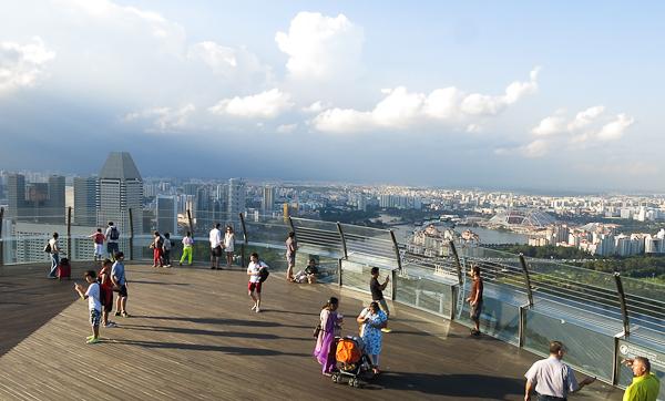 Terrasse d'observation du Marina Bay Sands - Singapour
