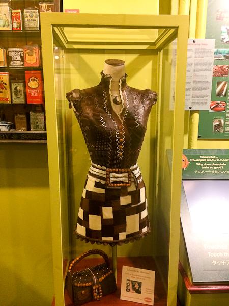 Une robe en chocolat - Erico Chocolatier et glacier - Québec City