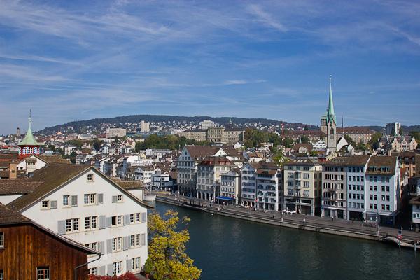Vue sur la basse-ville - Zurich, Suisse