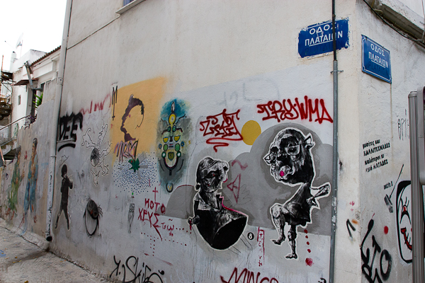 Art de rue - Street art à Athènes, Grèce 20