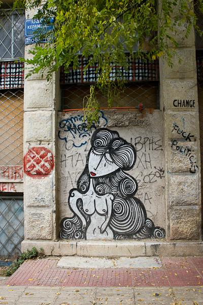 Art de rue - Street art à Athènes, Grèce 24