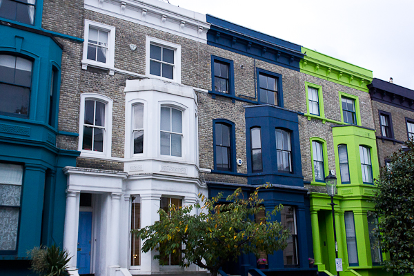 Maisons de Notting Hill, Londres, Royaume-Uni