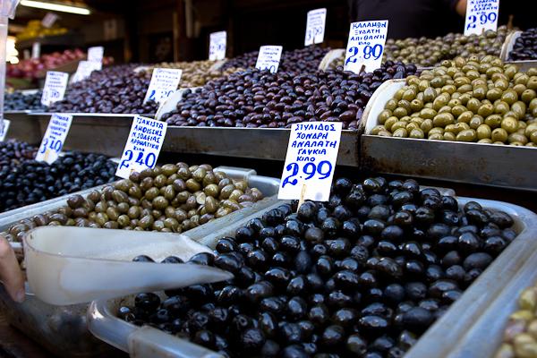 Olives au marché - Athènes, Grèce