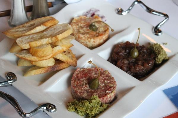 Trio de tartares - Restaurant Le Tire-Bouchon Bistro Parisien