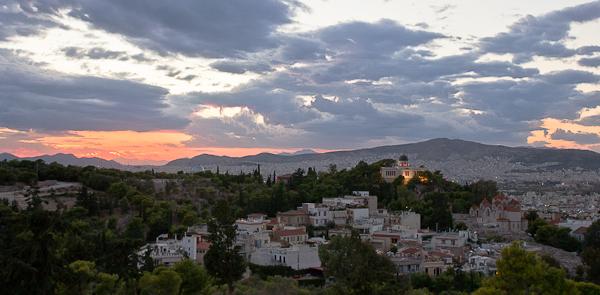 Vue de l'Acropole sur la ville - Athènes, Grèce