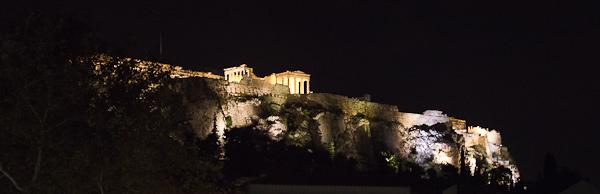 Vue de nuit sur l'Acropole - Athènes, Grèce