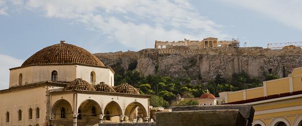 Vue sur l'Acropole de Monastiraki - Athènes, Grèce