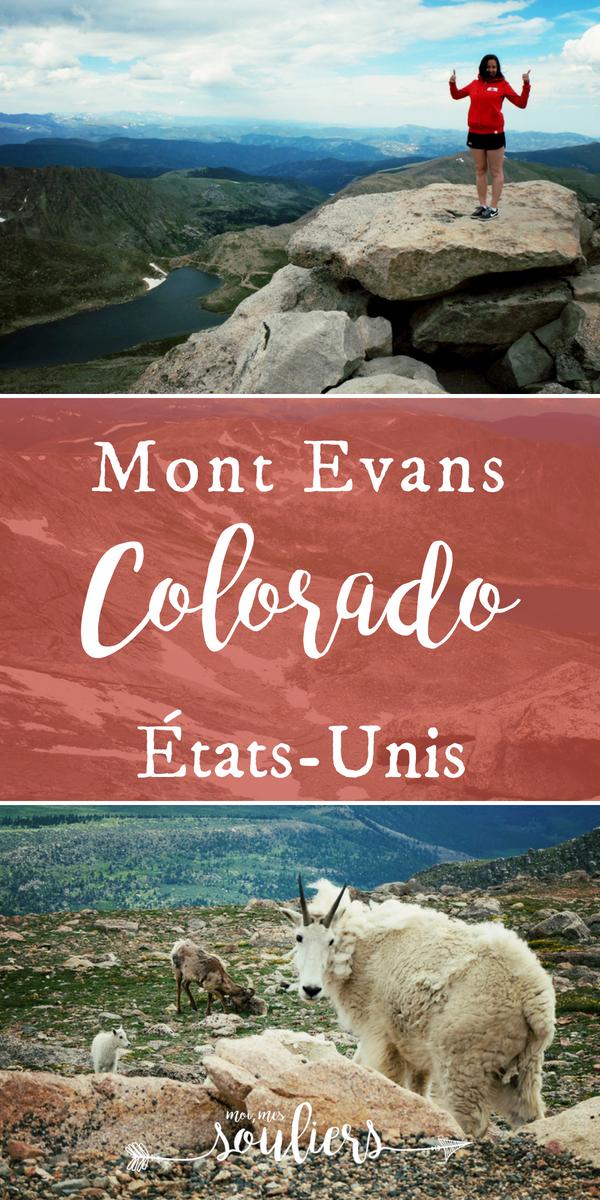Quoi faire au Mont Evans au Colorado - voyage aux États-Unis