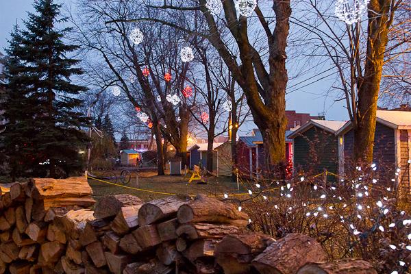 CabaNoel illuminées - Marché de Noel de L'Assomption - Lanaudière