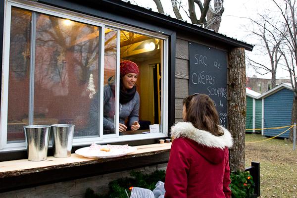 Kiosque de crêpes soufflées - Marché de Noel de L'Assomption - Lanaudière