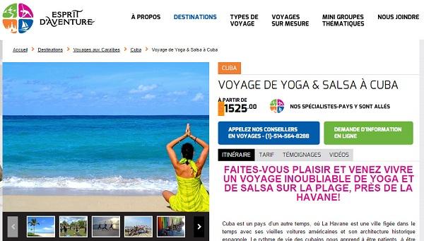 Voyage de yoga et salsa à Cuba - Esprit d'aventure