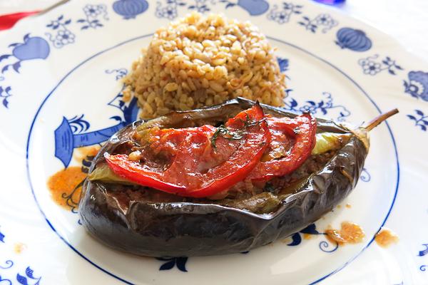 Aubergine farcie - cours de cuisine Turkish Flavours - Istanbul, Turquie
