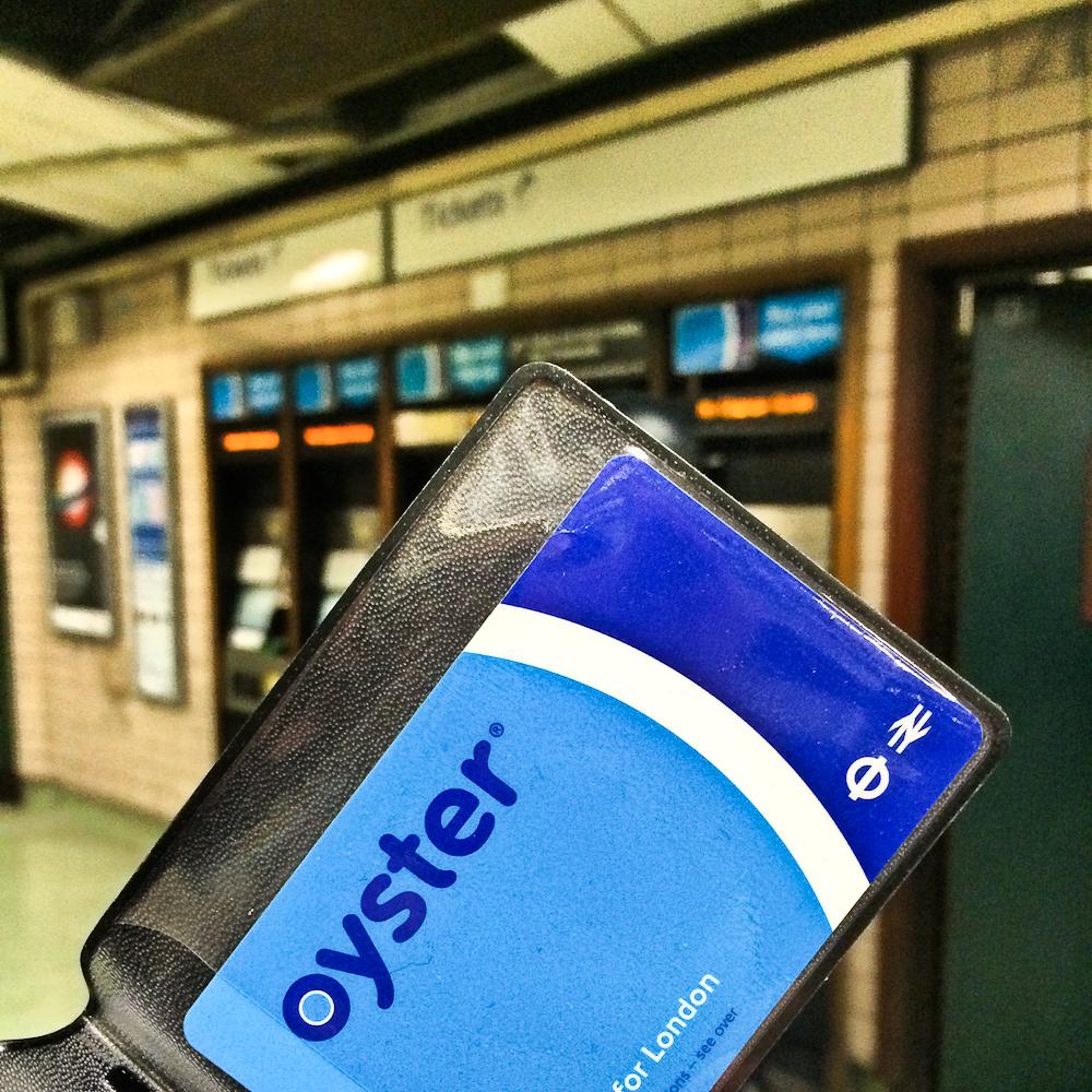 Oyster Card - Métro de Londres, Angleterre