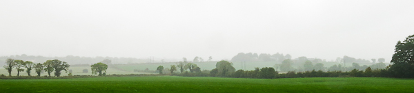 Panorama verdoyant d'Irlande