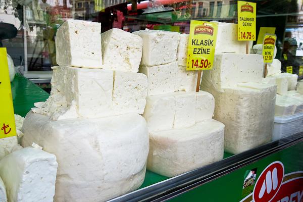 Variété de fromages - Istanbul, Turquie