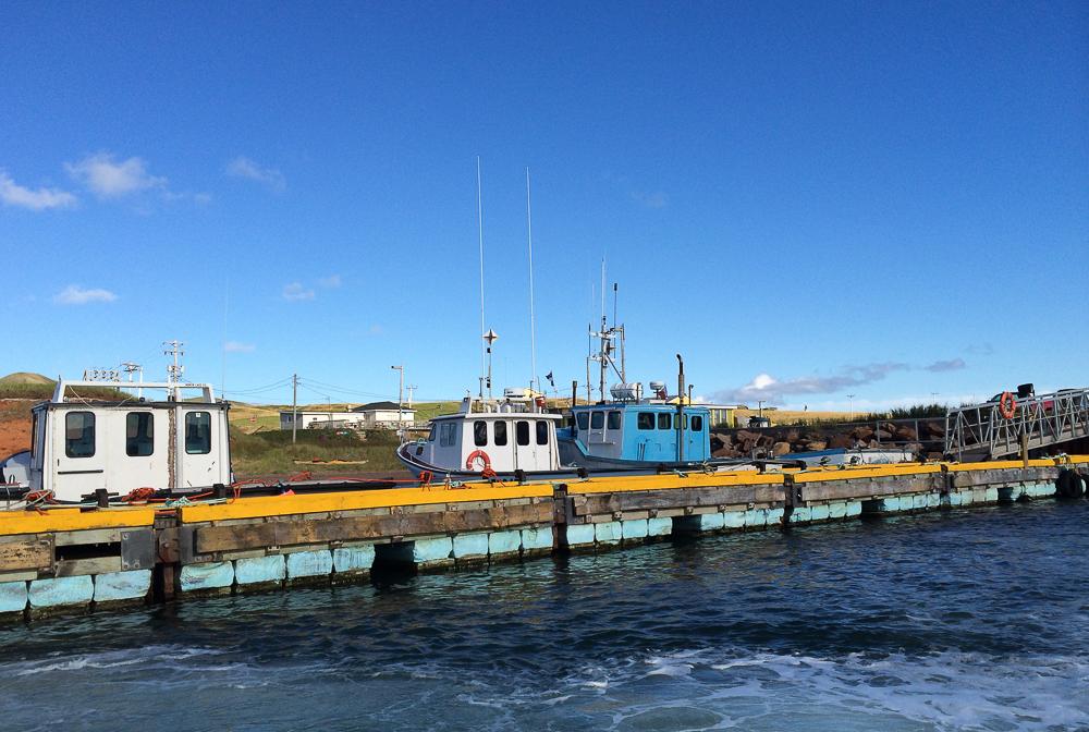 Arrivés au port - Îles-de-la-Madeleine