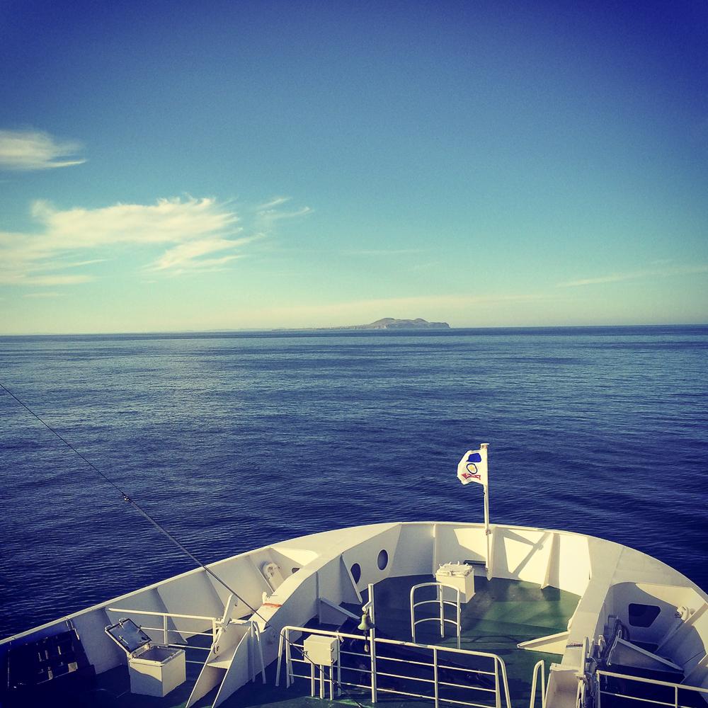 Dans le traversier en route pour les Îles-de-la-Madeleine