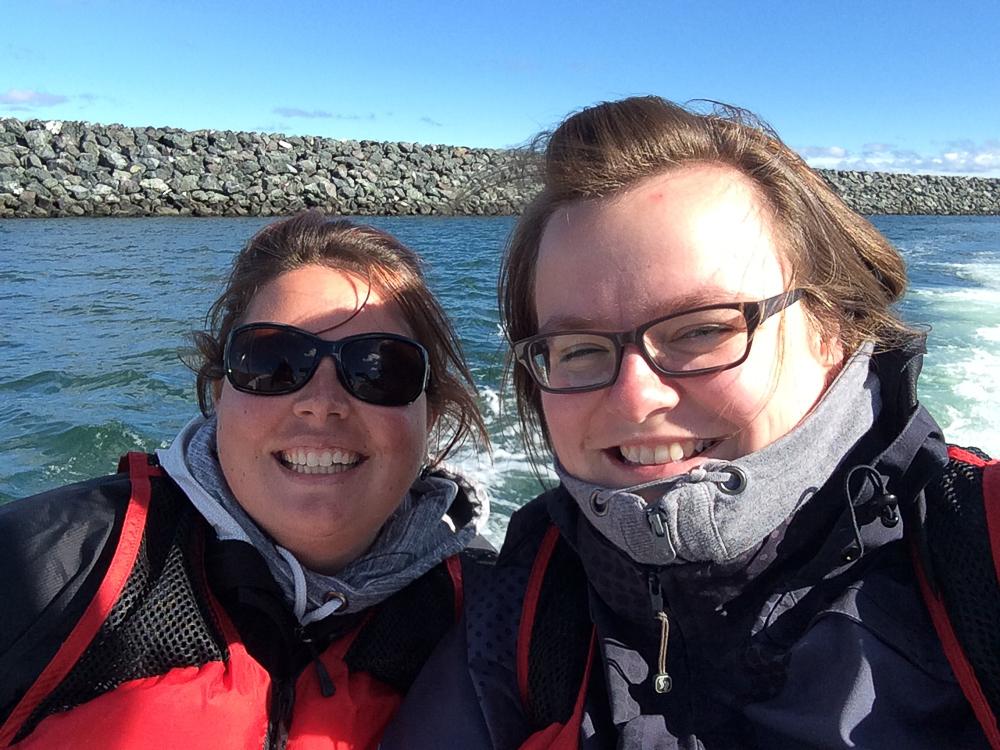 Eliane et moi en bateau - Îles-de-la-Madeleine