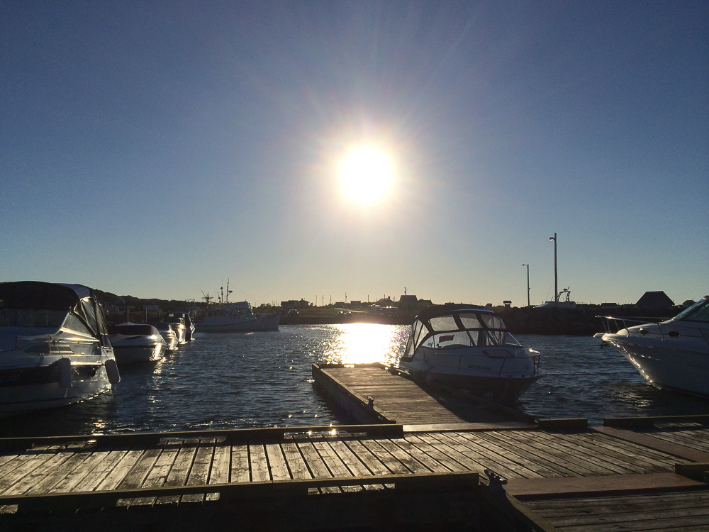 Une belle journée termineé, coucher de soleil - Îles-de-la-Madeleine