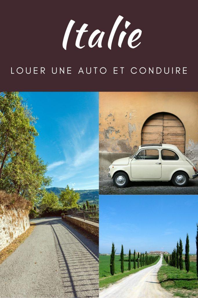 Conduire une auto en Italie