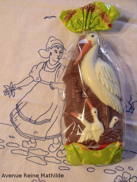 Cigogne en chocolat