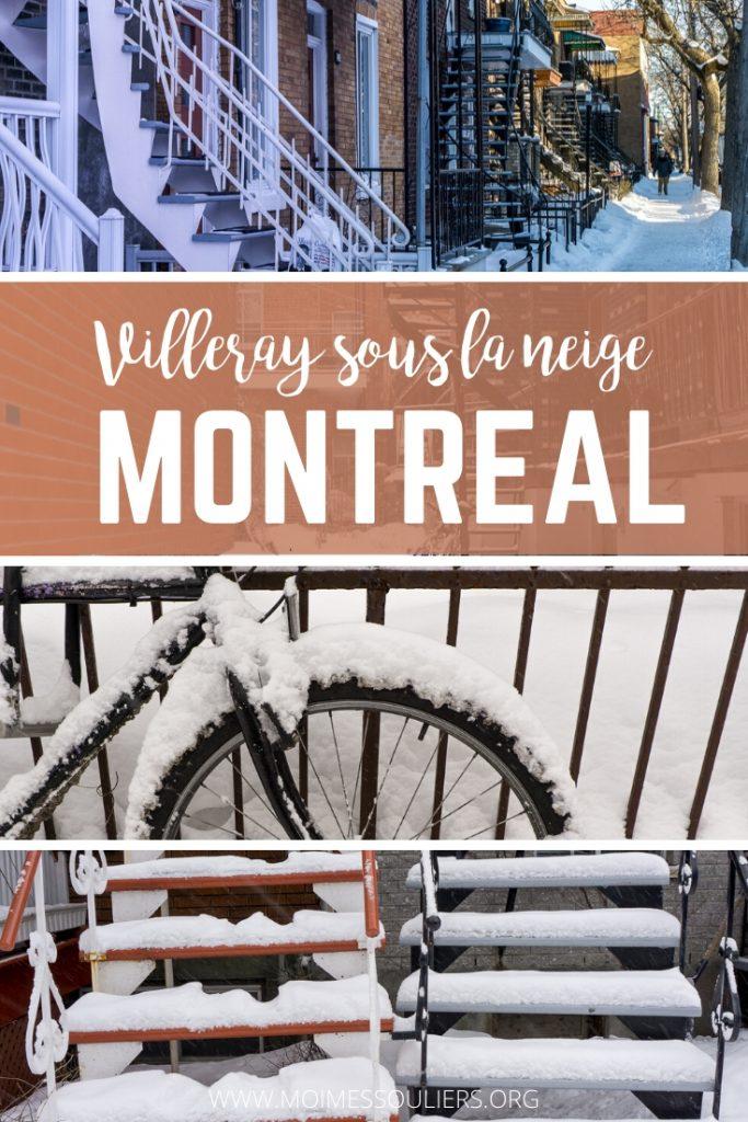 Villeray Montréal sous la neige