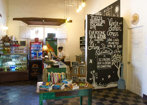 Caisse du The Garden Café, Granada, Nicaragua