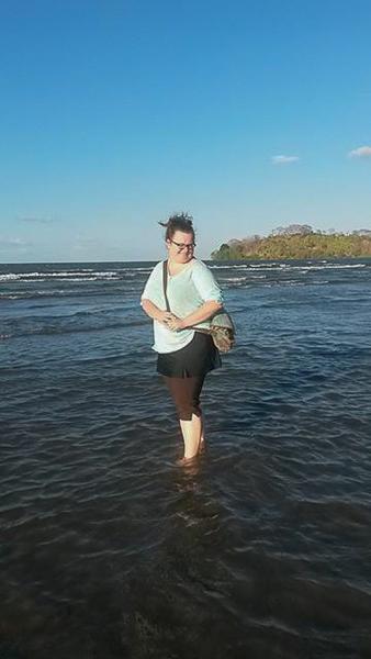 Jen sur la plage