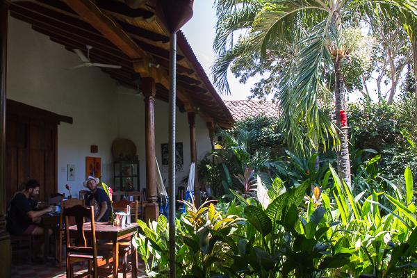 Jardin du The Garden Café, Granada, Nicaragua