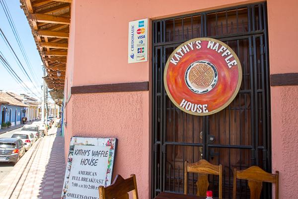 Kathy's Waffle House, Granada, Nicaragua