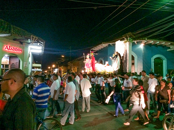La procession de Pâques, Granada, Nicaragua
