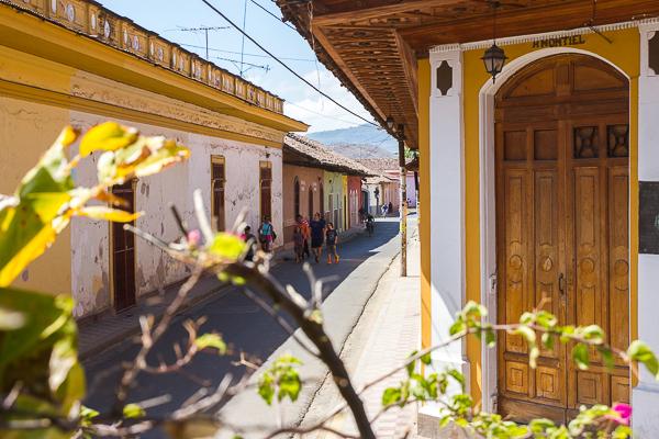 La vue du Kathy's Waffle House, Granada, Nicaragua