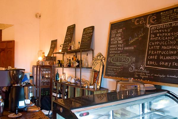 Le menu du Espressionnista Café, Granada, Nicaragua