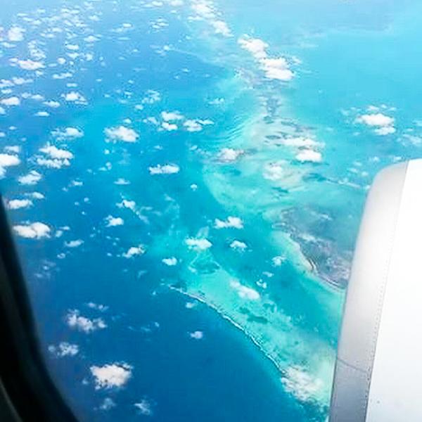Les Keys de la Floride vues de l'avion